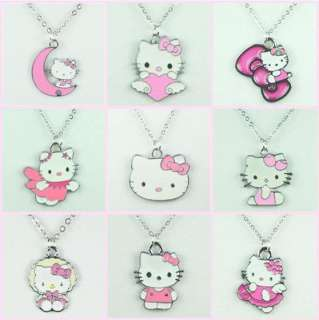 Lot Wholesale 9 pcs Hellokitty Pendants Necklaces for Girls Birthday