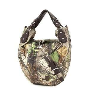 APG Camo Faux Leather Hobo Shoulder Bag / Purse: Sports & Outdoors