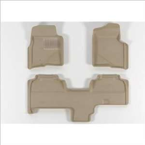 SuperCab 2009 2011 Beige KAGU   TPR   Molded Floor Mats Automotive
