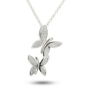 Chasing Butterflies Sterling Silver Clear Cubic Zirconia