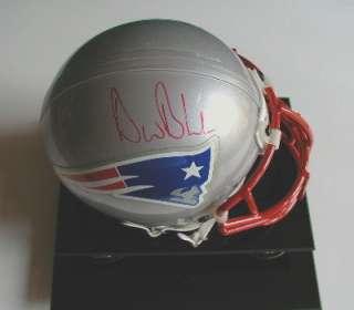 Drew Bledsoe Signed New England Patriots NFL Mini Helmet w/COA