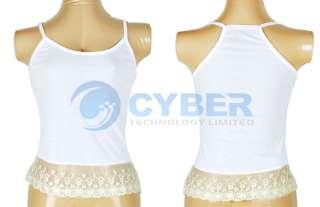 Korea 2PCS Lace Off Shoulder T Shirt+Tank Top Tee Girls