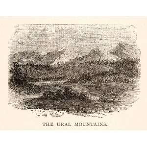 1881 Print Ural Mountain Range Landscape Western Russia