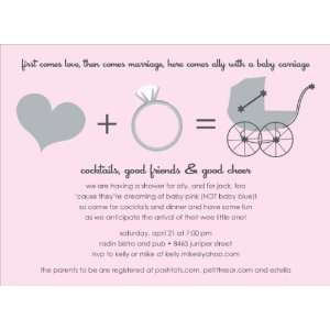 Love + Marriage Pink Baby Shower Invitations