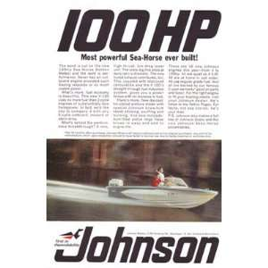 Print Ad: 1966 Johnson Motors: What sends you?: Johnson: Books