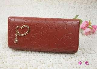 new fashion 7 colors long women clutch wallet purse bag