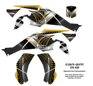 graphic kit for can am ds 450 2008 2010 part number ds450 7777yellow