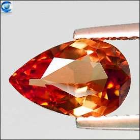 36cts  VVS Natural Ultra Hot Color Change Garnet  Pretty Pear