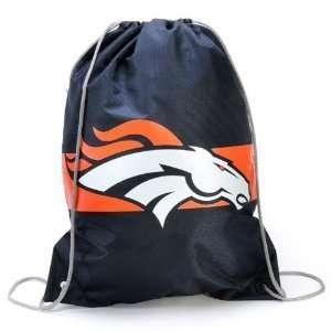 NFL Denver Broncos Navy Blue Team Logo Drawstring Backpack