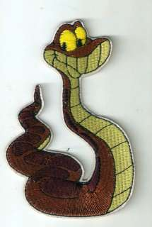 Kaa python molurus snake in Jungle Book Iron On Patch |