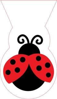 Fancy Ladybug Polka Dot Party Shaped Cello Bags x 12 £3.15