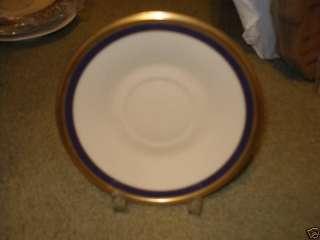 LENOX BLUE ROYALE Tea Saucer Only COBALT BLUE AND GOLD