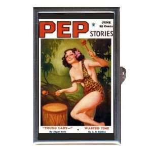 PEP STORIES PIN UP LEOPARD SKIN DRUM Coin, Mint or Pill