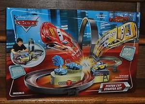 Disney Cars Piston Cup Starter Track Set Motorized Racing Playset NEW