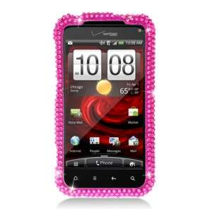 For HTC 6350 DROID INCREDIBLE 2 Crystal Bling Case Hot Pink Phone