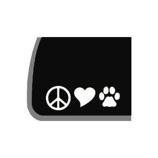 Peace, Love, Dogs Decal for Car, Truck, Notebook Etc. by