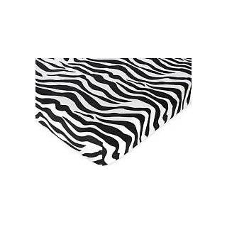 Funky Zebra Fitted Crib Sheet for Baby and Toddler Bedding Sets by