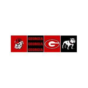 NCAA Georgia Bulldogs 6 Block Style Wallpaper Border