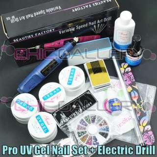 ELECTRIC NAIL ART DRILL + UV GEL NAIL SET (#53#66BU)