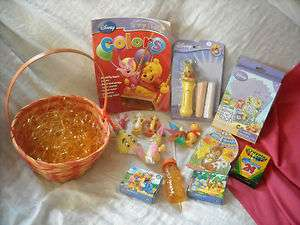 winnie the pooh bear toy easter basket children boy girl basket LOT