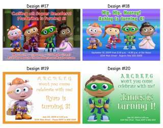 Super Why Readers ~ Birthday Party Ticket Invitations, Supplies, and