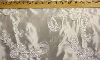 White Ribbon TAFFETA Fabric by the yard