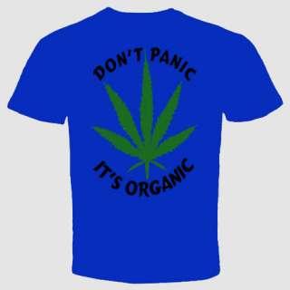 dont panic its organic cannabis marijuana weed t shirt