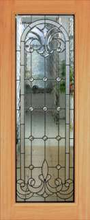 HAND CUT VICTORIAN STYLE BEVELED GLASS ENTRY DOOR JHL79