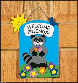 Welcome Friends Door Sign Craft Kit 4 Kids ABCraft