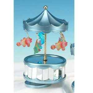 Glass Tropical Fish Music Box Collectible Decoration