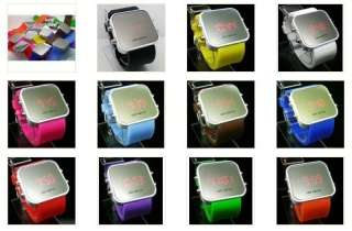 Colors Sport Style LED Digital Date Lady Men Wrist Watch A7