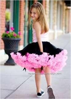 Pettiskirt bow Ballet child kids baby toddler girl Skirt Tutu 1 7 yrs