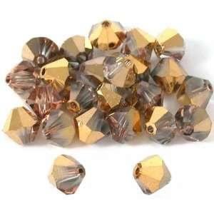 24 Rose Gold Bicone Swarovski Crystal Beads 5301 6mm Arts