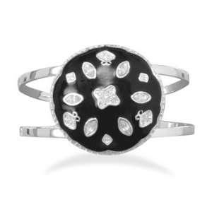 and Clear Crystal Fashion Cuff Bracelet West Coast Jewelry Jewelry