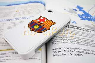 BARCELONA FC GENUINE LEATHER CASE FOR APPLE IPHONE 4 4S 4G HARD BACK
