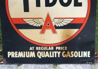 Veedol Tydol Gas and Oil Metal Advertising Sign Thumbnail Image