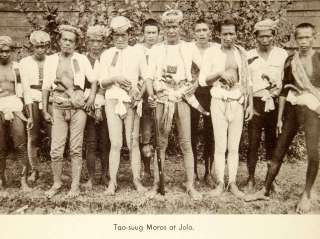 Tribe Philippines Ethnic Gun Dagger Warriors Men Moros Jolo