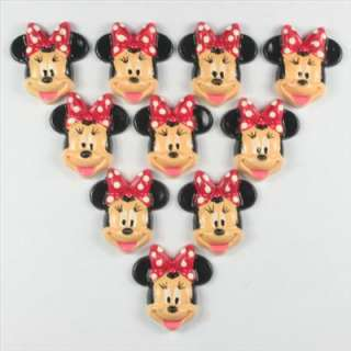 Minnie Mouse Flatbacks Scrapbooking Hair Bow Cabochon Craft Decoden