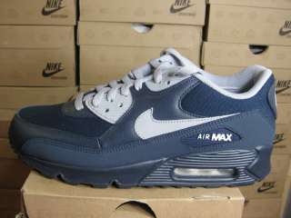 NIKE MENS AIR MAX 90 OBSIDIAN GREY WHITE