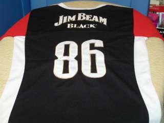 JIM BEAM BLACK Bourbon #86 Sewn Football JERSEY SM New