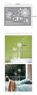 neighbor79] Dandelion Flower Removable Mural Vinyl Wall Decal Sticker