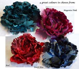 Large Fabric FLOWER HAIR CLIP CORSAGE PIN Colour Choice