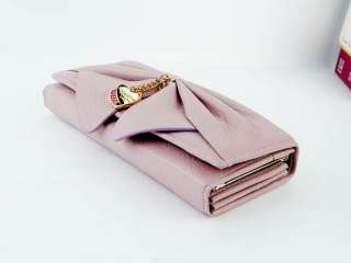 new fashion lady women big bow style purse long clutch wallet bags