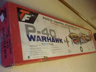 TOP FLITE P 40 WARHAWK RADIO CONTROLLED MODEL AIRPLANE KIT