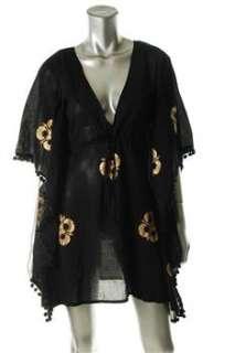 CATALOG Moda Black Embellished Dress Cover Up Misses Swimwear M