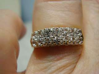 Beautiful 1 Carat, 14K White Gold 2 Row Diamond Ring