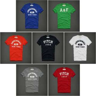 04be29dd ABERCROMBIE T shirt Applique A&F Lewey Mountain Mens S,M,L,XL SUMMER ...