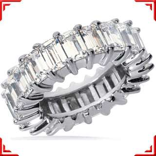 carat Emerald Cut DIAMOND PLATINUM ETERNITY BAND RING