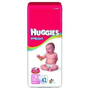 Huggies Snug & Dry Disposable Diapers, Huggies Snug N Dry Disp Sz2, (1