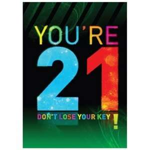 21st Birthday Card   Youre 21 Dont Lose Your Key!: Toys & Games
